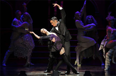 Roger Rees and Bebe Neuwirth in The Addams Family on Broadway