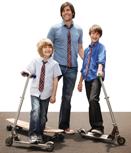Dapper Dude ties for dad and youth in plaid