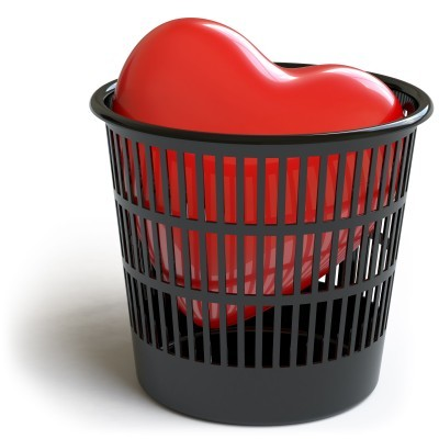 heart in trashcan