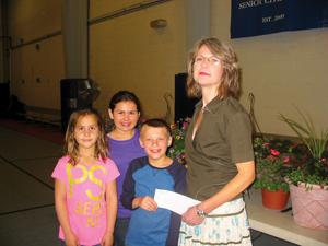 Mia Rivera, Amilinda Rivera, and Dimitri Vailakis; rockland plant sale fundraiser