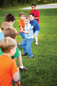 tug-of-war, a classic children's game