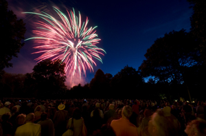 July 4 fireworks in Westchester County, NY