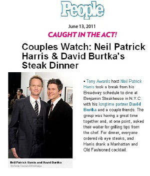 Neil Patrick Harris in People magazine