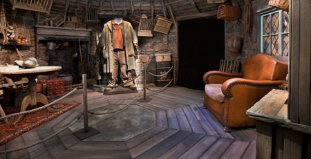 Hagrid's Hut at the Harry Potter Exhibition at Discovery Times Square in NYC