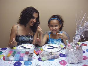 jewelry workshop for mothers and daughters at Strawtown Jewelry