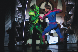 spider-man fighting the green goblin