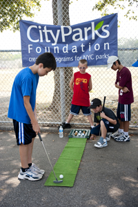 City Parks Foundation free golf lessons for kids