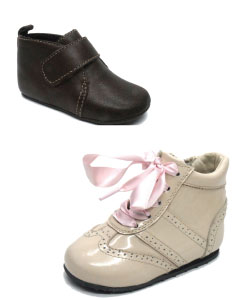 Black and Beige baby shoes