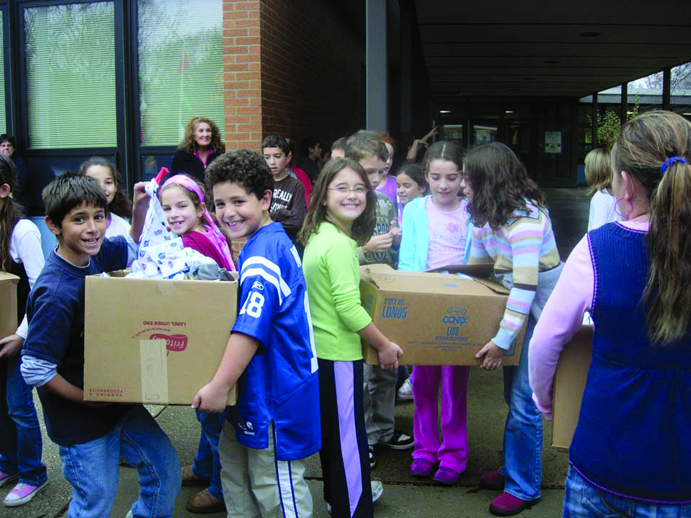 Students at Ardsley elementary school participating for nonprofit Pajama Party