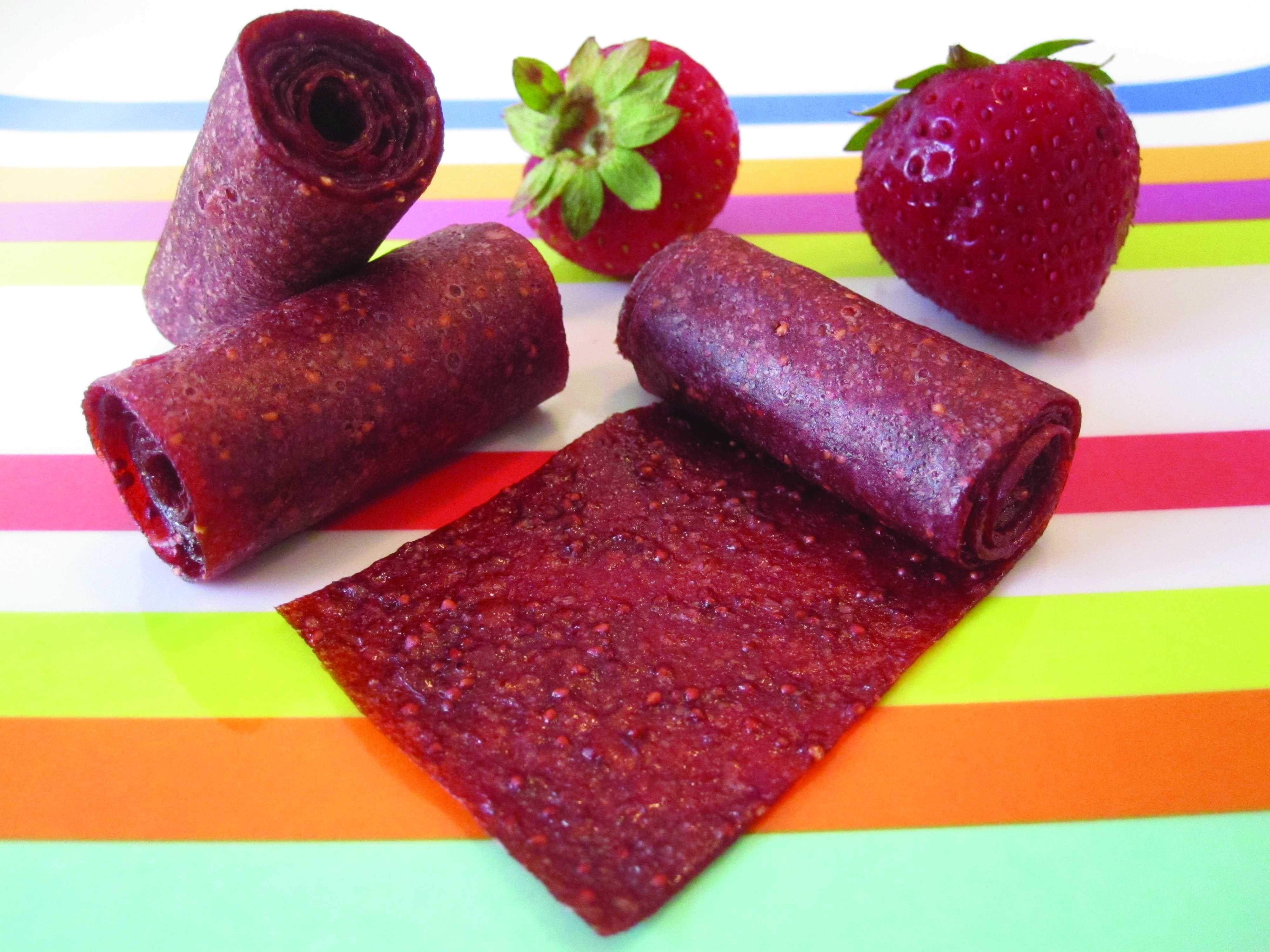 healthy strawberry fruit roll-up