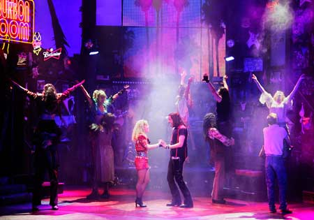 The Broadway cast of Rock of Ages