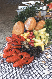 Lobster and rolls