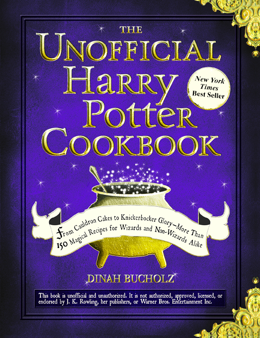 "Book cover for the ""The Unnoffical Harry Potter Cookbook"""