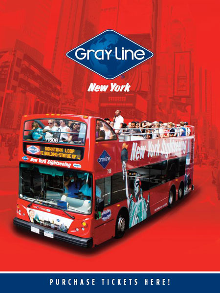 Gray Line New York Sightseeing Double Decker Bus Tours