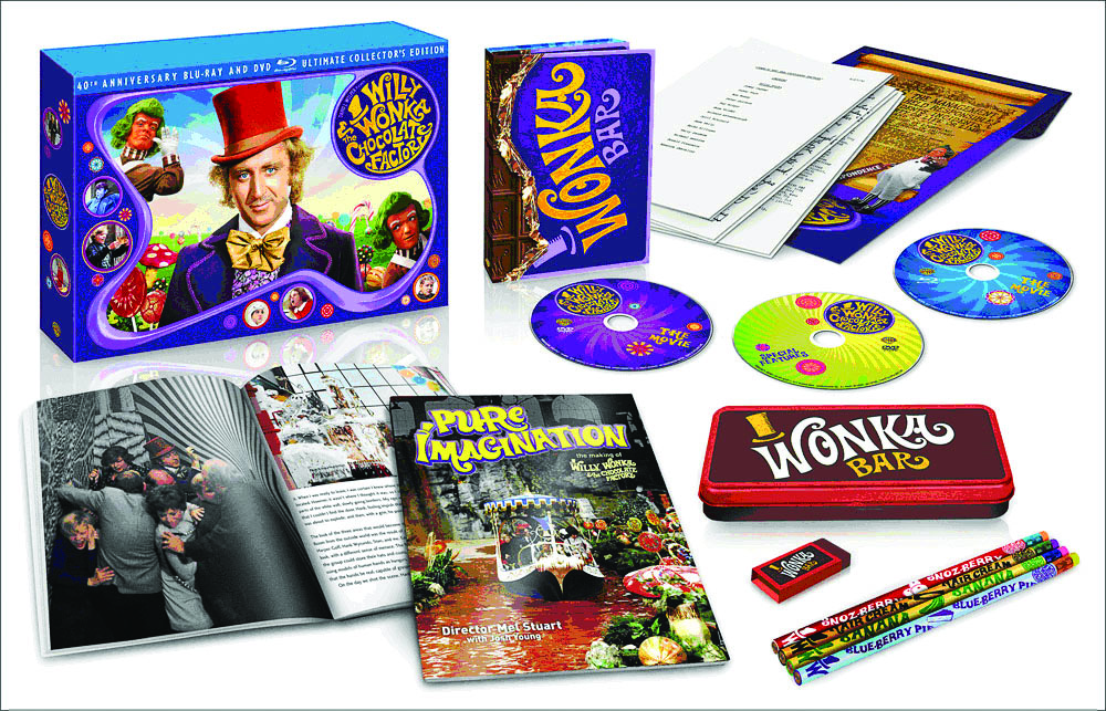 Wonka chocolate and Willy Wonka and the Chocolate Factory movie.