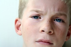 boy worried about going back to school