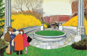 picture book illustration of Central Park