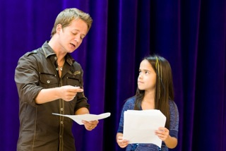 Jason Earles teaches Hannah Montana acting class in nyc