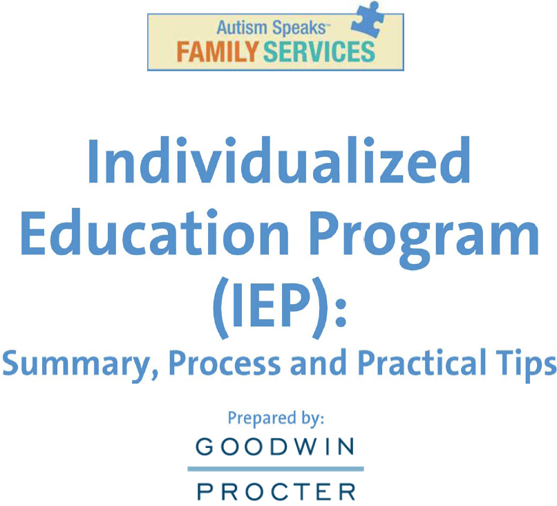 Individualized Education Program Guide for Parents
