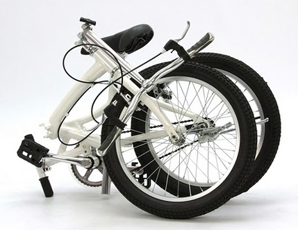 Super Glider bike folded