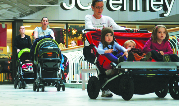 Stroller Strides holds one-hour workouts for moms throughout our region, each complete with walking intervals, body toning, and strengthening components as well as nursery rhymes, songs, and props to keep baby happy during the workout.