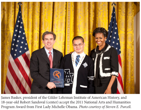 gilder lehrman institute of american history recieves award from michelle obama