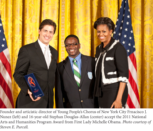 young people's chorus of new york city receives award from michelle obama