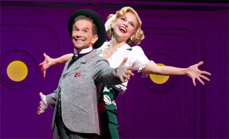 Joel Grey and Sutton Foster in Anything Goes