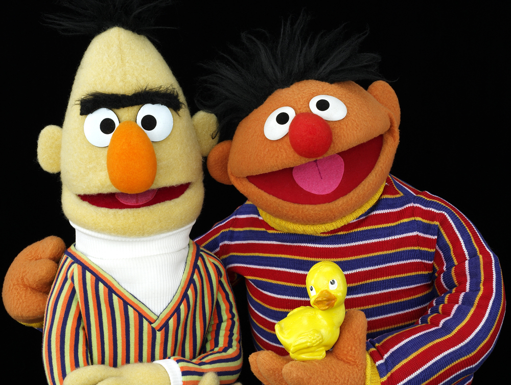 Bert and Ernie muppets
