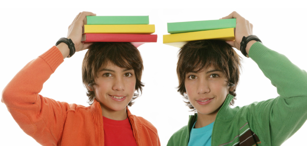 twins in school