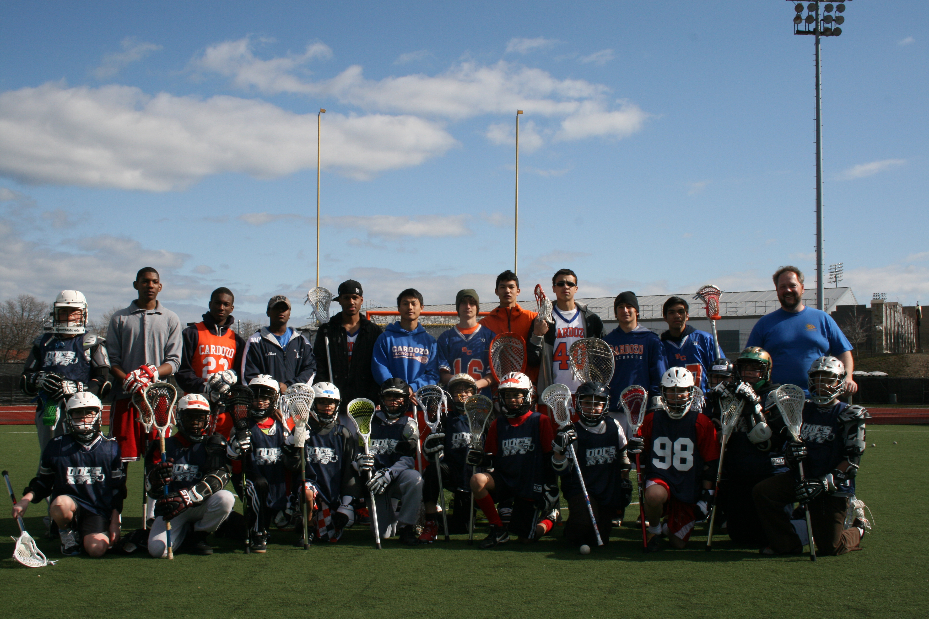 Doc's Queen Lacrosse program after their first session March 2011.