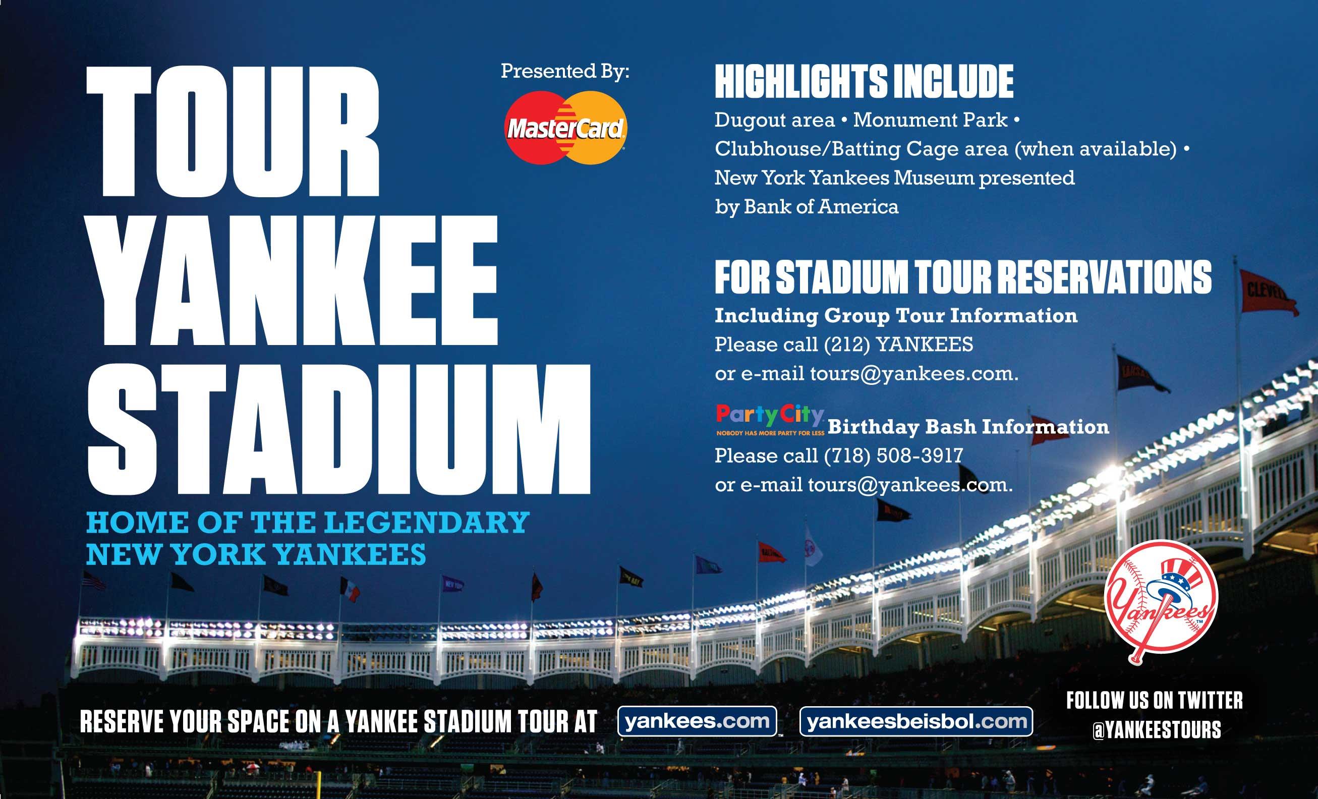 Yankee Stadium Game Day Tours