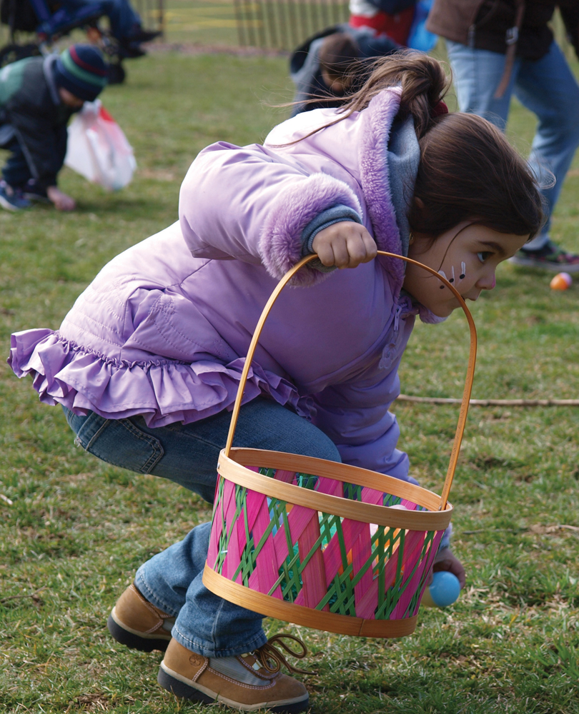 Easter egg hunt in queens
