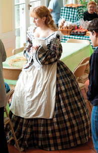 costumed docent at Bartow-Pell Mansion Museum