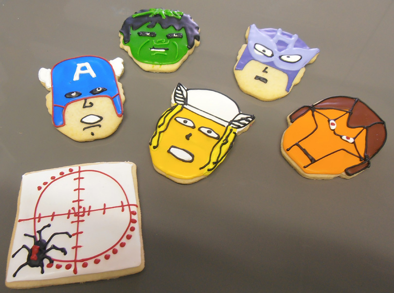 The Avengers cookies