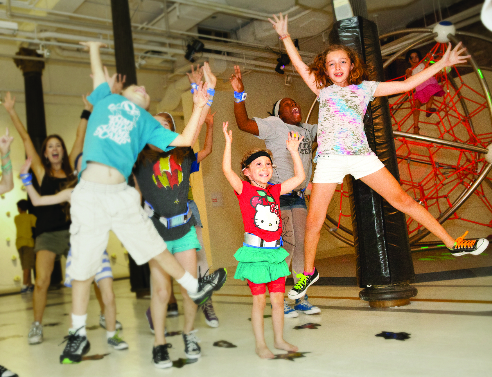 Kids use their bodies and brains to complete their fun mission at Exerblast.