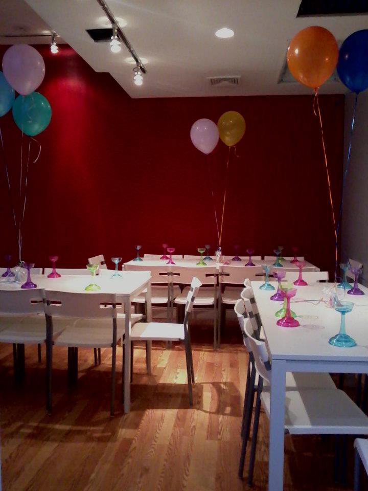 The party room at Spa-Tacular Parties @ The Candy Shop