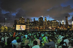 outdoor movie brooklyn