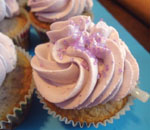 cupcakes with purple frosting