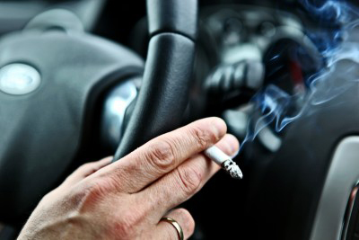cigarette and smoke in car
