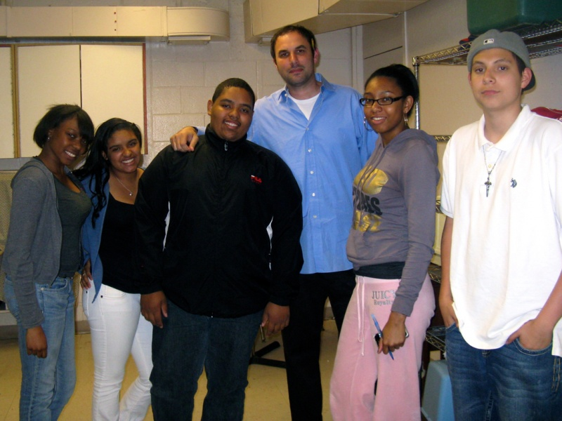 Dan Isenberg with his mentees at Boys & Girls Club of Northern Westchester
