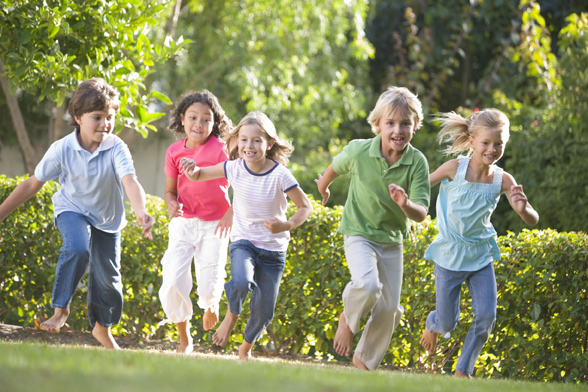 kids running outside