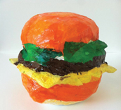 hamburger art