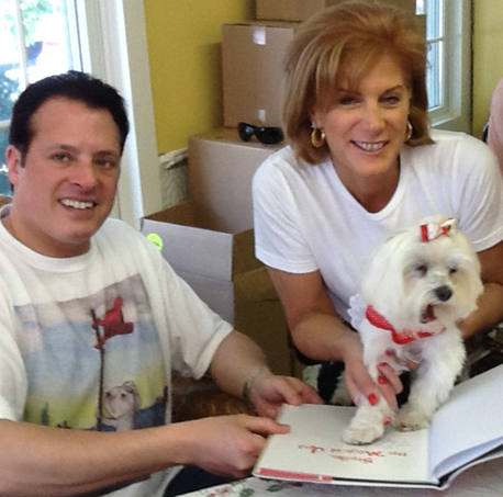 Michael and Linda Amiri with Maltese dog Shellie