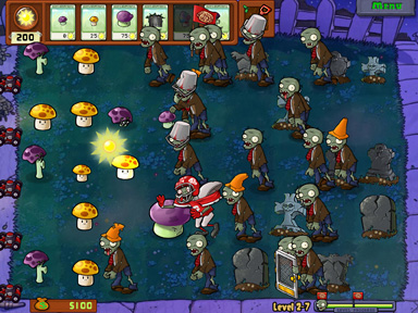 Plants vs. Zombies video game screenshot
