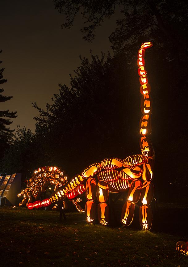 brontosaurus jack o lantern blaze