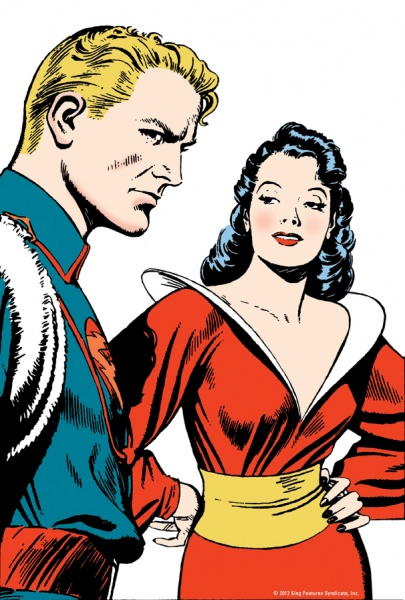Flash Gordon and Superwoman