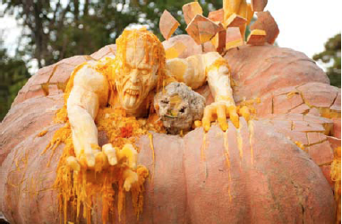 new york botanical garden zombie pumpking carving