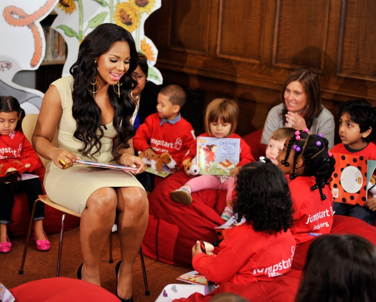 Celebrity Ashanti with Jumpstart Kids