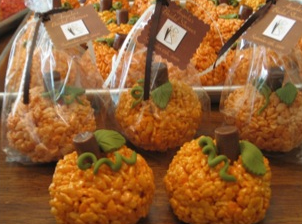 pumpkin rice crispy treats